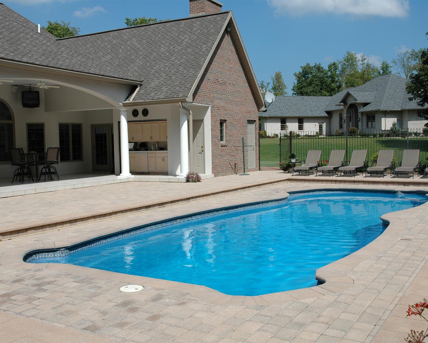 luxury house with inground swimming pool
