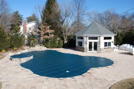 inground swimming pool and spa cover