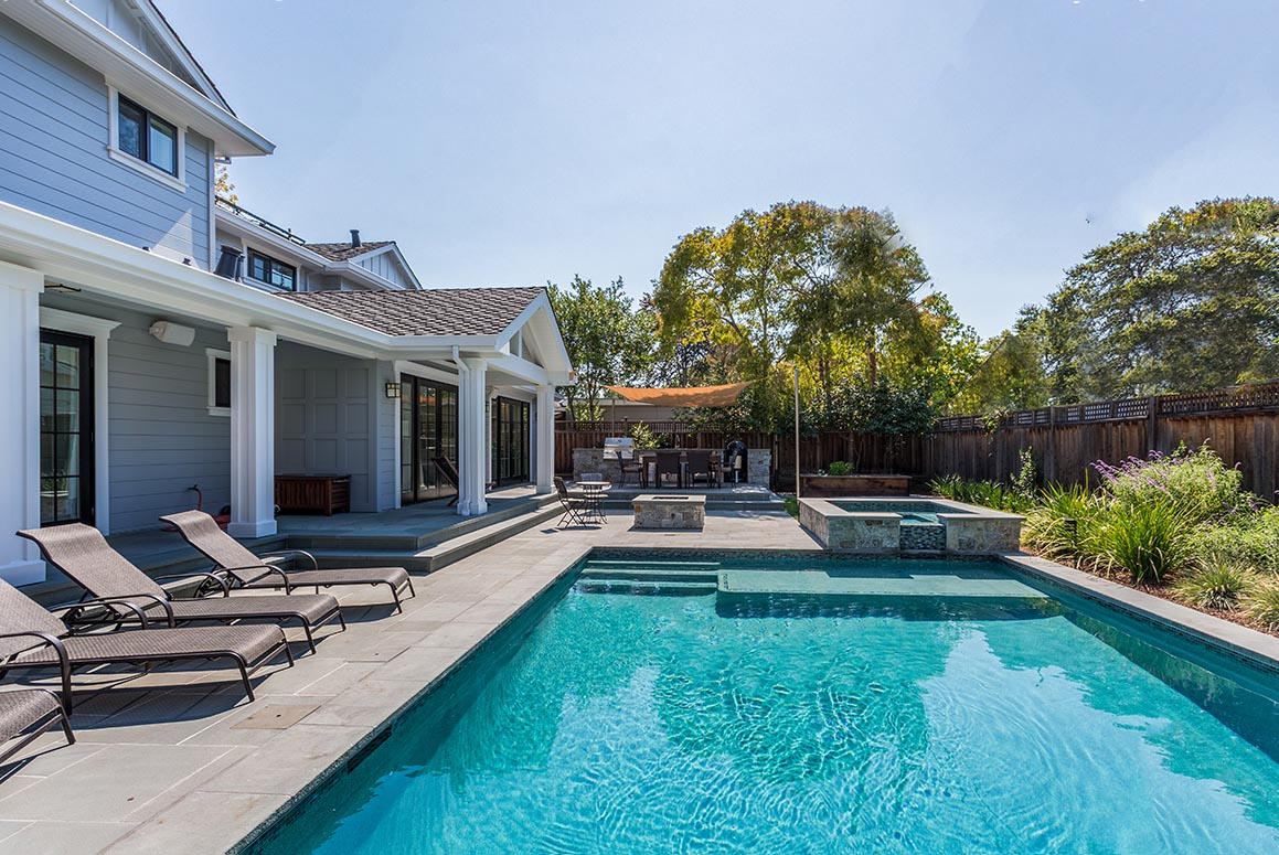 luxury house with inground swimming pool and spa