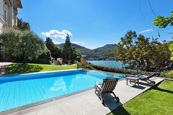 inground swimming pool in backyard